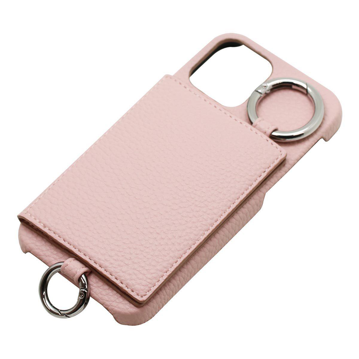 iPhone 12/12Pro用カードポケット付きショルダーケース